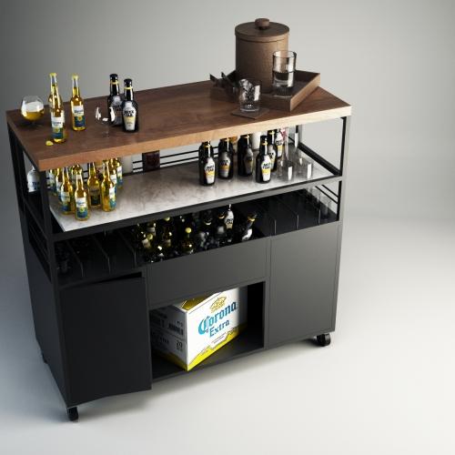 Bar Cabinet Render